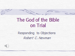 The God of the Bible on Trial PowerPoint PPT Presentation