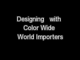 Designing   with Color Wide World Importers