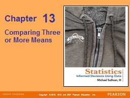 Chapter Comparing Three or More Means
