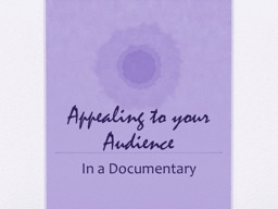 Appealing to your Audience