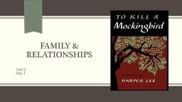 Family & relationships PowerPoint PPT Presentation