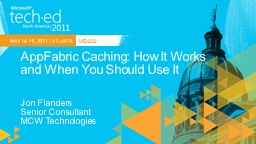 AppFabric  Caching: How It Works