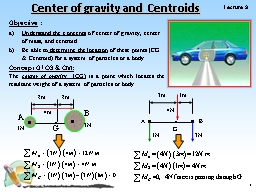 1 Lecture  9 Center of gravity and Centroids