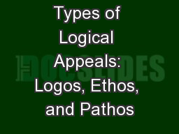 Types of Logical Appeals: Logos, Ethos, and Pathos
