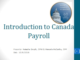 Introduction to Canada Payroll