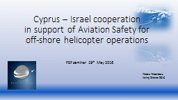 Cyprus – Israel cooperation PowerPoint PPT Presentation