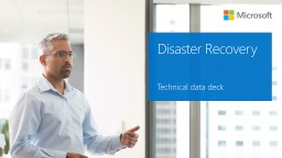 Disaster Recovery Technical data deck
