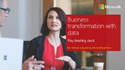 Business transformation with data