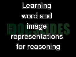Image2Vec: Learning word and image representations for reasoning