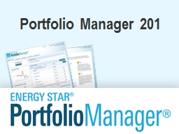 Portfolio Manager 201 Learning Objectives PowerPoint PPT Presentation
