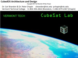 CubedOS Architecture and Design