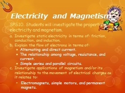 Electricity  and Magnetism PowerPoint PPT Presentation