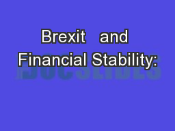 Brexit   and Financial Stability: