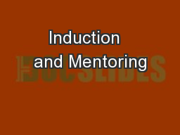 Induction  and Mentoring
