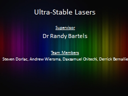 Ultra-Stable Lasers Supervisor PowerPoint PPT Presentation