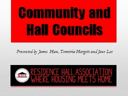 Community and Hall Councils PowerPoint PPT Presentation