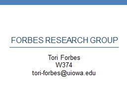 Forbes Research Group Tori Forbes