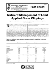 Nutrient Management of Land Applied Grass Clippings Jo