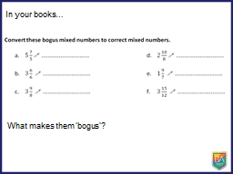 In your books� What makes them �bogus�?