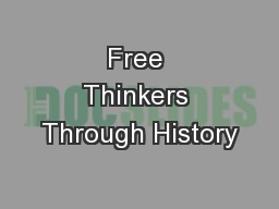 Free Thinkers Through History