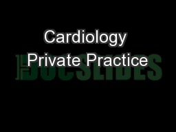 Cardiology Private Practice