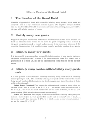 Hilberts Paradox of the Grand Hotel  The Paradox of th