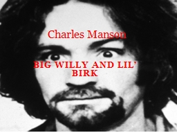 Big Willy and  L il'  Birk PowerPoint PPT Presentation