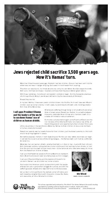 Jews rejected child sacrifice  years ago
