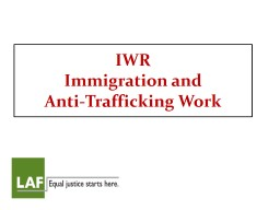 IWR  Immigration and Anti-