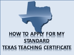 How to apply for my Standard