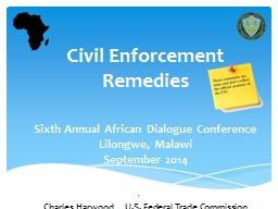 1 Civil Enforcement Remedies