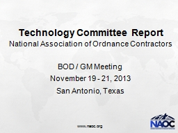 Technology Committee Report