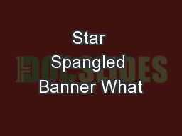 Star Spangled Banner What