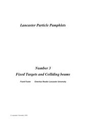Lancaster University  Lancaster Particle Pamphlets Nu