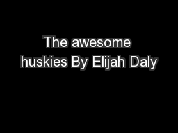 The awesome huskies By Elijah Daly