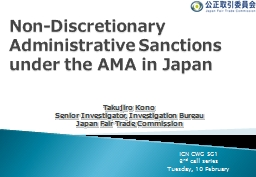Non- Discretionary Administrative Sanctions PowerPoint PPT Presentation
