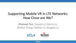 Supporting Mobile VR in LTE Networks: