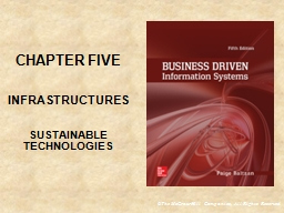 CHAPTER FIVE INFRASTRUCTURES