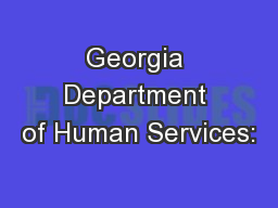 Georgia Department of Human Services: