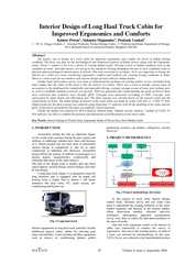 Interior Design of Long Haul Truck Cabin for Improved PowerPoint PPT Presentation