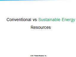 Conventional  vs   Sustainable Energy