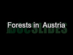 Forests in  Austria