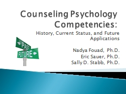Counseling Psychology Competencies: