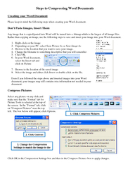 Steps to Compressing Word Documents Creating your Word