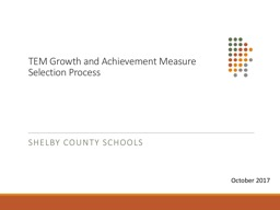 TEM Growth  and Achievement Measure