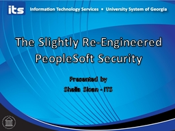 The Slightly Re-Engineered PeopleSoft Security