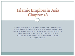 """""""The empire of the world…must be one, one faith and one kingdom.  To make this unity there is n"""