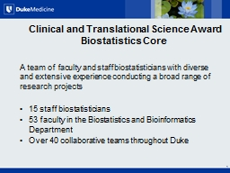 Clinical and Translational Science Award