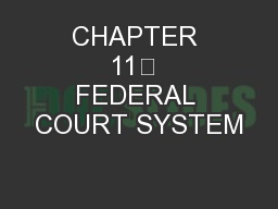 CHAPTER 11 FEDERAL COURT SYSTEM