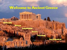 Welcome to Ancient Greece PowerPoint PPT Presentation